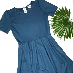 LULAROE | sz M teal Amelia dress